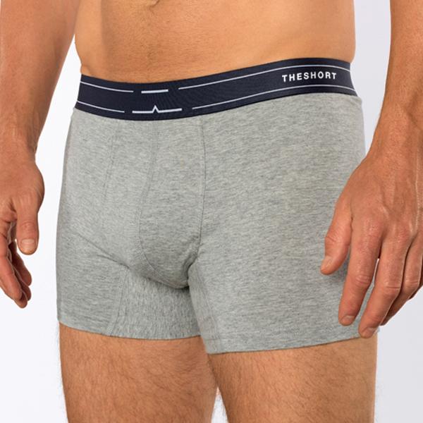 The Short boxershort voorkant- grijs